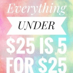 Closet sales deals 5/25 5 for 25